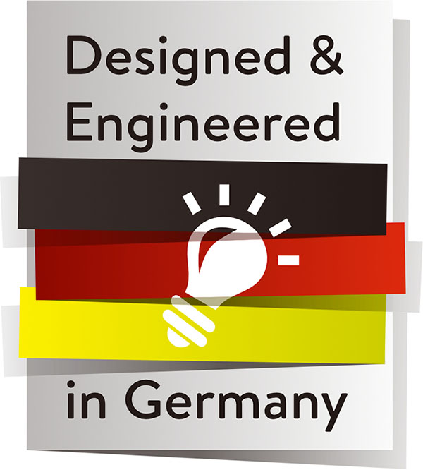 Designed and Engineered in Germany Logo